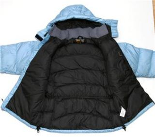 HARDWEAR WOMENS DOWN JACKET PARKA SIZE 12 SKY BLUE WINTER SKI HUNKER