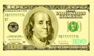 Hundred Dollar Bill $100 Money Note Party Large Sign 3x5 Poly Banner