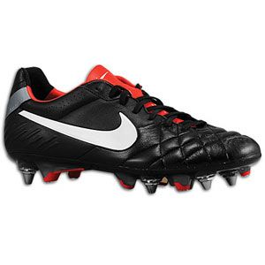 Nike Tiempo Legend IV SG   Mens   Black/Challenge Red/Metallic Cool
