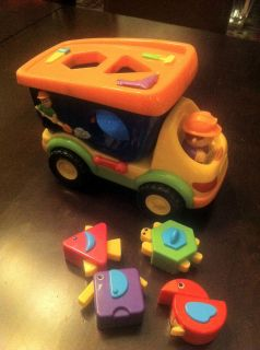 Iplay Dump Truck Super Shapes Sorter