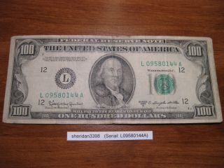 1950 100 Dollar Bill Printed in San Francisco
