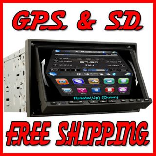 HD 2 DIN in Dash 7 Car DVD Stereo FM Radio GPS Navigation B Map Back