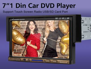 D2208 7 in Dash Car DVD Stereo Touch Screen Radio Deck