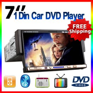LITB HD 1 DIN in Dash Car DVD Player 7 Touch Screen Radio iPod TV