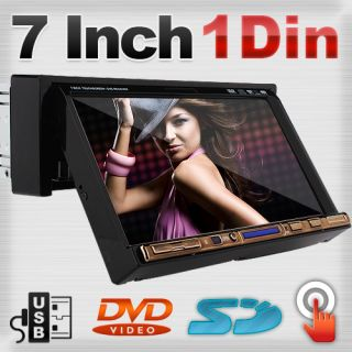 inch LCD Touch Screen One 1 DIN in Deck Auto DVD Car CD Player