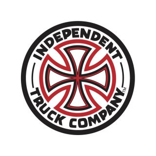 Independent Red White Cross Sticker 3 inch Skateboard Decal