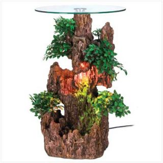 Bonsai Tree Waterfall Water Fountain Indoor Patio w Pump 2 Ft