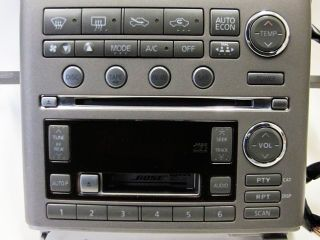 Infiniti G35 Bose 6 CD Disc Changer SAT Radio Stereo Face Faceplate