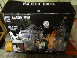 New Gemmy 12 Foot Airblown Inflatable Halloween Haunted House Castle