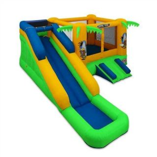 Tropical Blast Inflatable Bounce House and Water Slide New