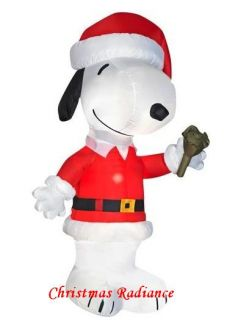 New 6ft Gemmy Airblown Inflatable Christmas Snoopy Santa