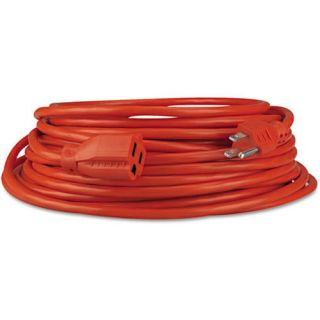 Innovera Indoor Outdoor Heavy Duty Extension Cord 25 Feet Orange