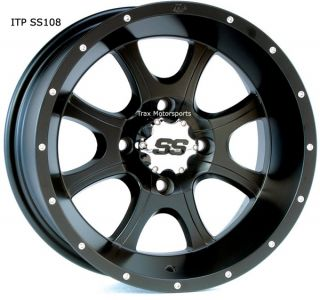 New 12 ATV Wheels Rims Set ITP SS108 RZR Rhino Grizzly