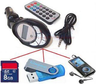 Car  Player FM Transmitter Modulator USB Pen Drive SD MMC Slot Card
