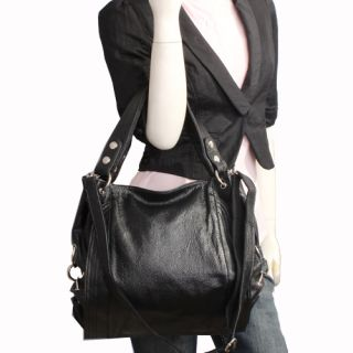 Genuine Italian Leather Black Handbags, Purse, Hobo Bag, Satchel, Tote