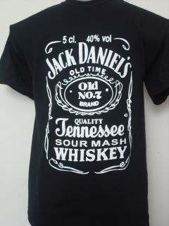New Jack Daniels T Shirt Top Festival Music Whiskey Slogan Unisex s M