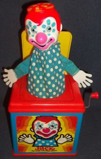 Jack in the Music Box * Mattel 1976 * vintage clown toy * WORKS * See