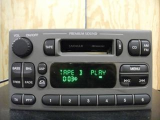 Jaguar s Type Factory Am FM Cassette Player Radio 00 01 02 XR8F 18K876
