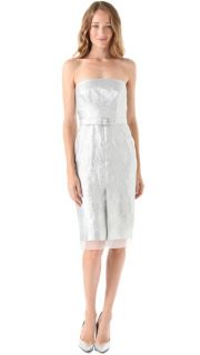 PHILOSOPHY DI ALBERTA FERRETTI Strapless Jacquard Dress