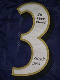 Jamal Lewis Signed Home Jersey w 3 Very RARE Inscriptions JSA COA Must