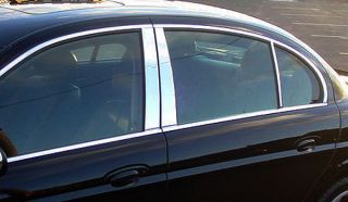 2002 06 Jaguar s Type Chrome Pillar Post Cover Trims