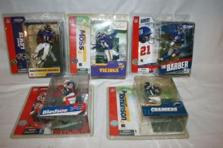 McFarlane Sports Football Action Figures Randy Moss Jamal Lewis