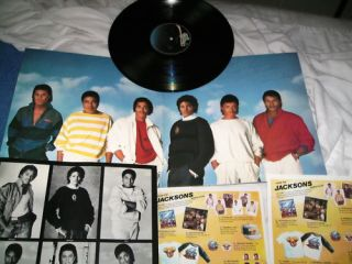 Victory LP 1984 Michael Jackson Mick Jagger Signed by Jackie Jackson