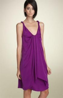 Diane Von Furstenberg Womens Gorgeous Silky Purple Pepet Dress Sz 8