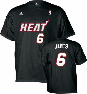 Miami Heat Lebron James Black Jersey T Shirt Sz XXL 2XL