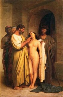 Purchase of A Slave Jean Leon Gerome Repro Oil Paint