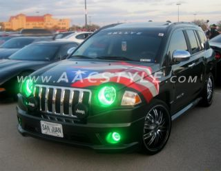 2007 11 Jeep Compass Patriot Headlight Halo Kit Oracle LED Rings White
