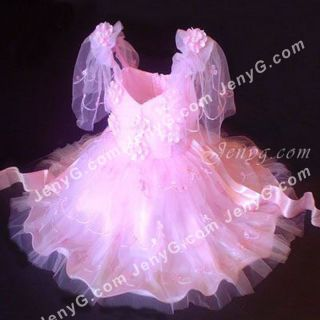 311 Flower Girls Communions Party Holiday Gowns Dresses Pink 0 5 Years