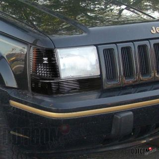 Jeep Grand Cherokee Parking Bumper Lights Black Pair