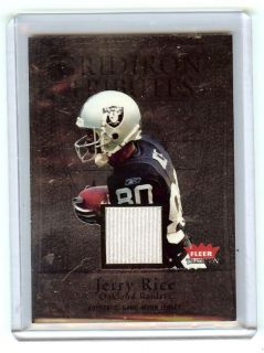 Jerry Rice 04 Fleer Tradition Gridiron Tributes Jersey