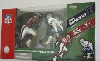Deion Sanders vs Jerry Rice McFarlane Sports Picks Football 2 Pack