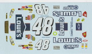 48 Jimmy Johnson All Star Race 2012 1 32nd Scale Slot Car Decals