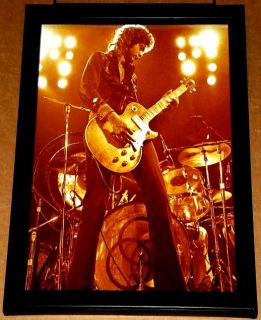 Jimmy Page LED Zeppelin Gibson Les Paul Framed Portrait