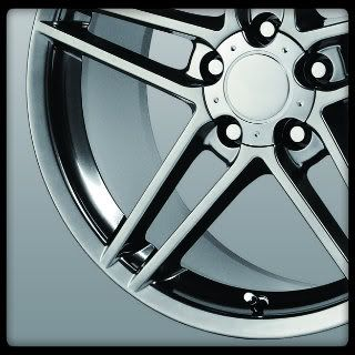 Replicas V1145 C6 ZO6 Silver Corvette Staggered Wheels Rims