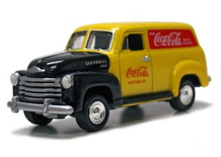 JOHNNY LIGHTNING COCA COLA 50 CHEVY PANEL DELIVERY YELLOW RED DELIVERY SERVICE