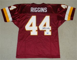 John Riggins Signed Autographed Washington Redskins 44 Jersey w HOF 92