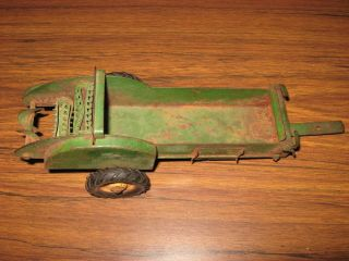 Vintage John Deere Toy Farm Implement Mulcher Spreader Die Cast for Parts
