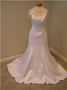 Joli Bridal Wedding Dress Bridal Gown White Cap Sleeve Mermaid Size 10