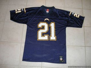 LaDainian Tomlinson 21 San Diego Chargers Jersey Large Reebok NFL Football L SS