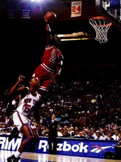 D6869 Michael Jordan Dunk Chicago Bulls NBA Basketball 32x24 Poster