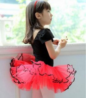 New Girl Birthday Party Leotard Ballet Tutu Dance Skate Skirt Costume Dress 3 8Y