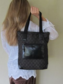 800 Genuine Gucci Black GG Monogram Purse Large Tote Bag