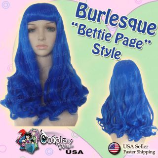 Katy Perry Blue California Gurls Burlesque Bettie Page Cosplay