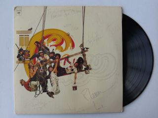 Group Signed Album Cover 8 Signatures Terry Kath PSA DNA RARE