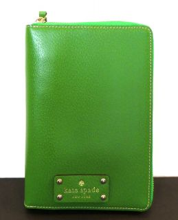 Kate Spade Wellesley 2013 GREEN Zip Around Personal Planner Organizer
