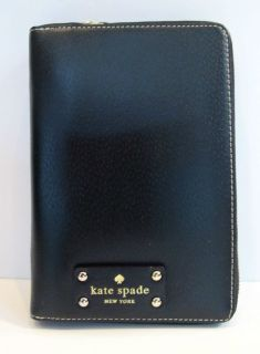 Kate Spade Wellesley 2013 BLACK Zip Around Personal Planner Organizer